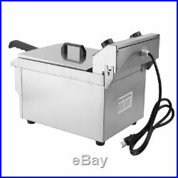 10/13/26L Electric Deep Fryer Countertop Home Commercial Restaurant Tool BP