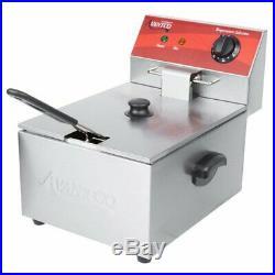 10 lb 120V Commercial Deep Fryer Avantco Electric Restaurant Compact Countertop