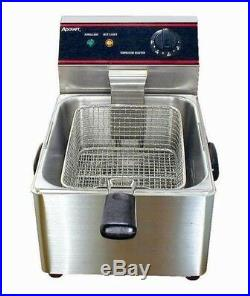 10 lb. Electric Countertop Deep Fryer -120V, 1750W Commercial Night cover