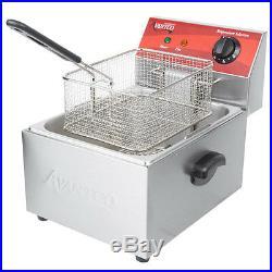 10 lb Electric Countertop Fryer 120V 1750W Compact Size 10.5 Wide Deep Fryer