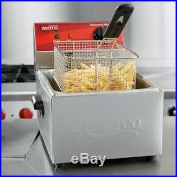 10 lb Electric Restaurant Countertop Commercial Deep Fryer 120V F100 Hotel Home