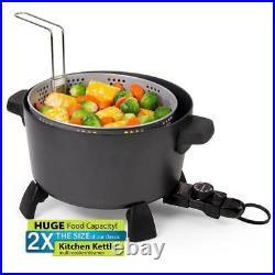 10 qt. Electric Deep Fryer Black Kitchen Kettle Meat Fish Multi Cooker NEW