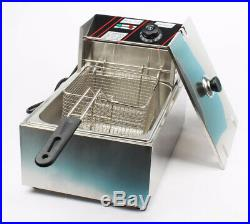 10L Commercial Electric Deep Fryer Potato Chip Fried Chicken Frying Machine 220V