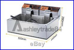 11L Single Cylinder Electric Deep Fryer Frying Oven For Potato Chicken 220V