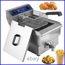 13L 1.65KW Electric Deep Fryer Portable Dual Tank Basket Commercial Restaurant