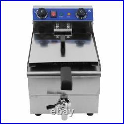 13L Commercial Electric Deep Fryer Steel Tabletop Restaurant with Basket 3i