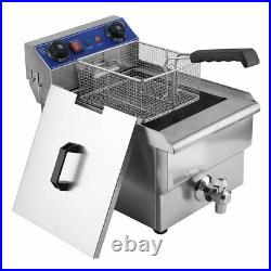 13L Commercial Electric Deep Fryer with Drain Timer Fast Food French Frys AA