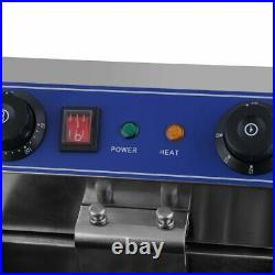 13L Stainless Steel Commercial Restaurant Electric Deep Fryer withTimer and f5