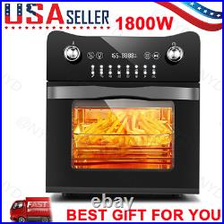 14.7QT Electric Deep Fryer Electric Toaster Oven 1800W Electric LED Touch Screen