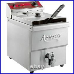 15 Lb. Electric Deep Fryer Commercial Countertop Basket French Fry Medium Duty