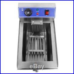 1500W Electric Deep Fryer 11.7 Liter Commercial Tabletop Restaurant Fry Basket