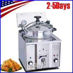 16L Auto Commercial Electric Countertop Pressure Fryer Chicken Fish 110V 2019