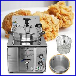16L Fish Chicken Meat Vegetable Chips Electric Pressure Fryer Deep Fryer Cooking
