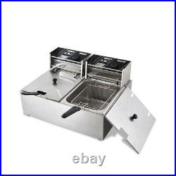 1800W Stainless Steel Electric Deep Fryer Home Party Commercial Restaurant
