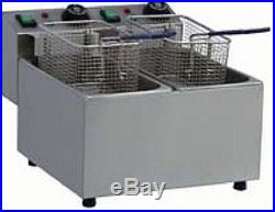 18L Pantin Commercial Double Well Electric Countertop Deep Fryer 240V 5000W