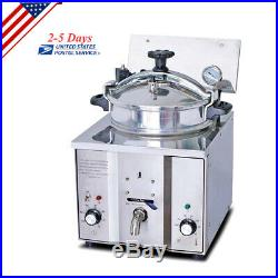 2.4KW Commercial Electric Countertop Pressure Fryer 16L Stainless Chicken Fish