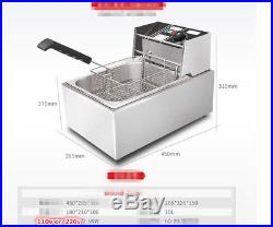 2.5 Gallon Deep Fryer Electric Counter Top Commercial Grade Single Cooler Depot