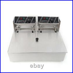 2.5KW 6.3QT 6L / 5KW 12.7QT 12L Electric Countertop Deep Fryer Basket Restaurant