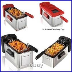 2 Liter Professional Oil Powered Deep Fryer Fast Cooking With Heating Element