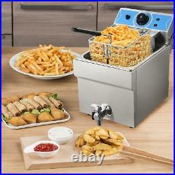 2000W Electric Countertop Deep Fryer Single Tank Commercial Restaurant 11L