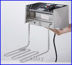 20L Commercial Dual Tank Electric Deep Fryer Fast Food Frying Machine 220V
