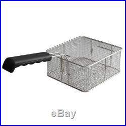 20L Electric Countertop Deep Fryer Dual Tank Commercial Restaurant Steel 110V US