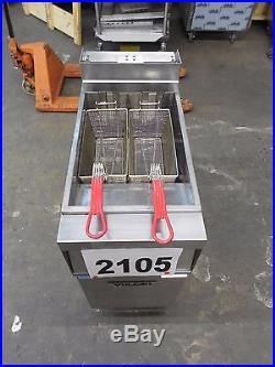 2105-Vulcan Free Standing Electric Deep Fryer Model 1ER50A-1