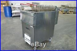 2117 Used Vulcan Electric Deep Fryer, 85 lbs capacity Model 1ER85A-1