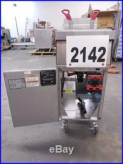 2142-Vulcan Free Standing Electric Deep Fryer Model 1ER50A-1
