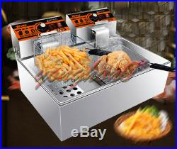 220V 11L Single Cylinder Electric Deep Fryer Frying Oven For Potato Chicken