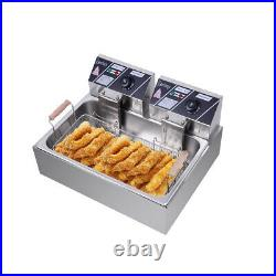 220V 12L Tank Commercial Electric Deep Fryer Fast Food Frying Machine 2500W Fry
