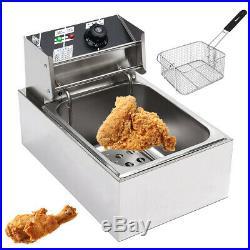 220V 2.5KW Electric Deep Fryer 6L Commercial Fry Frying Chip Cooker Basket