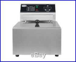 220V Single Cylinder 6L Electric Deep Fryer Frying Oven For Potato Chicken