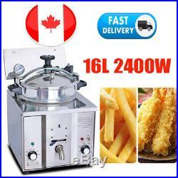 2400W 16L Commercial Electric Countertop 5Chicken Pressure Deep Fryer Restaurant