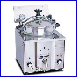 2400W 8psi 16L Stainless Steel Electric Pressure Fryer Countertop Chicken Cook