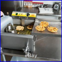 240V Carnival King 25 lb Funnel Cake Donut Elephant Ear Deep Fryer Commercial