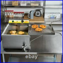25 Lb. Funnel Cake Donut Elephant Ear Deep Fryer 120V Commercial Restaurant NSF