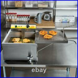25 lb Carnival King Funnel Cake Donut Elephant Ear Deep Fryer Commercial 240V