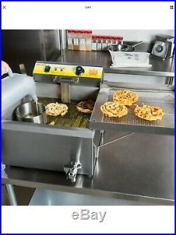 25 lb. Electric Countertop Funnel Cake / Donut Deep Fryer 120V