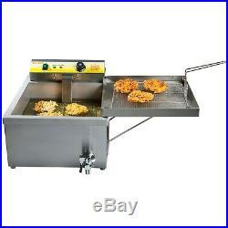 25 lb. Electric Countertop Funnel Cake / Donut Deep Fryer 240 Volt