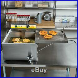 25 lb. Electric Countertop Stainless Steel Funnel Cake Deep Fryer 120V