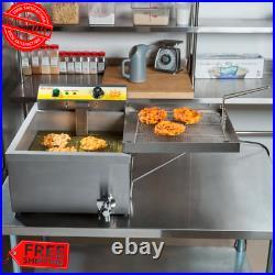 25 lbs. Funnel Cake Donut Elephant Ear Deep Fryer 120V Commercial Restaurant NSF