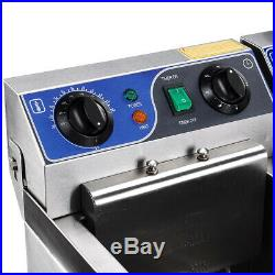 2500/5000W Electric Countertop Deep Fryer Commercial Basket French Restaurant US