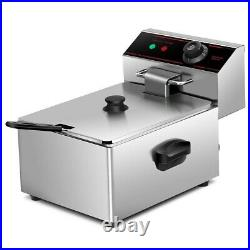 2500W 6L Commercial Single Electric Counter top Deep Fryer Basket Scoop
