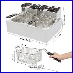 2500W Commercial Home Electric Deep Fryer French Fry Bar Restaurant Tank Basket