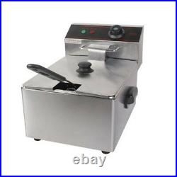 2500W Deep Fryer Electric Commercial Tabletop Restaurant Frying with Basket Scoop
