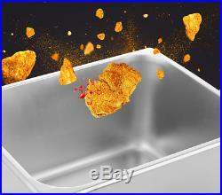 2500W Electric Deep Fryer 6 Liter Commercial Tabletop Restaurant Frying Basket
