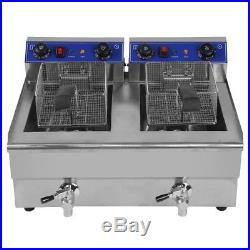 26L 3.3KW Temperature Control Timing Double Container Electric Deep Fryer OY