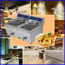 26L 3.3KW Temperature Control Timing Double Container Electric Deep Fryer WW