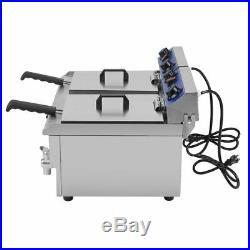26L Electric Countertop Deep Fryer Commercial Restaurant Fried Food Cooker BP